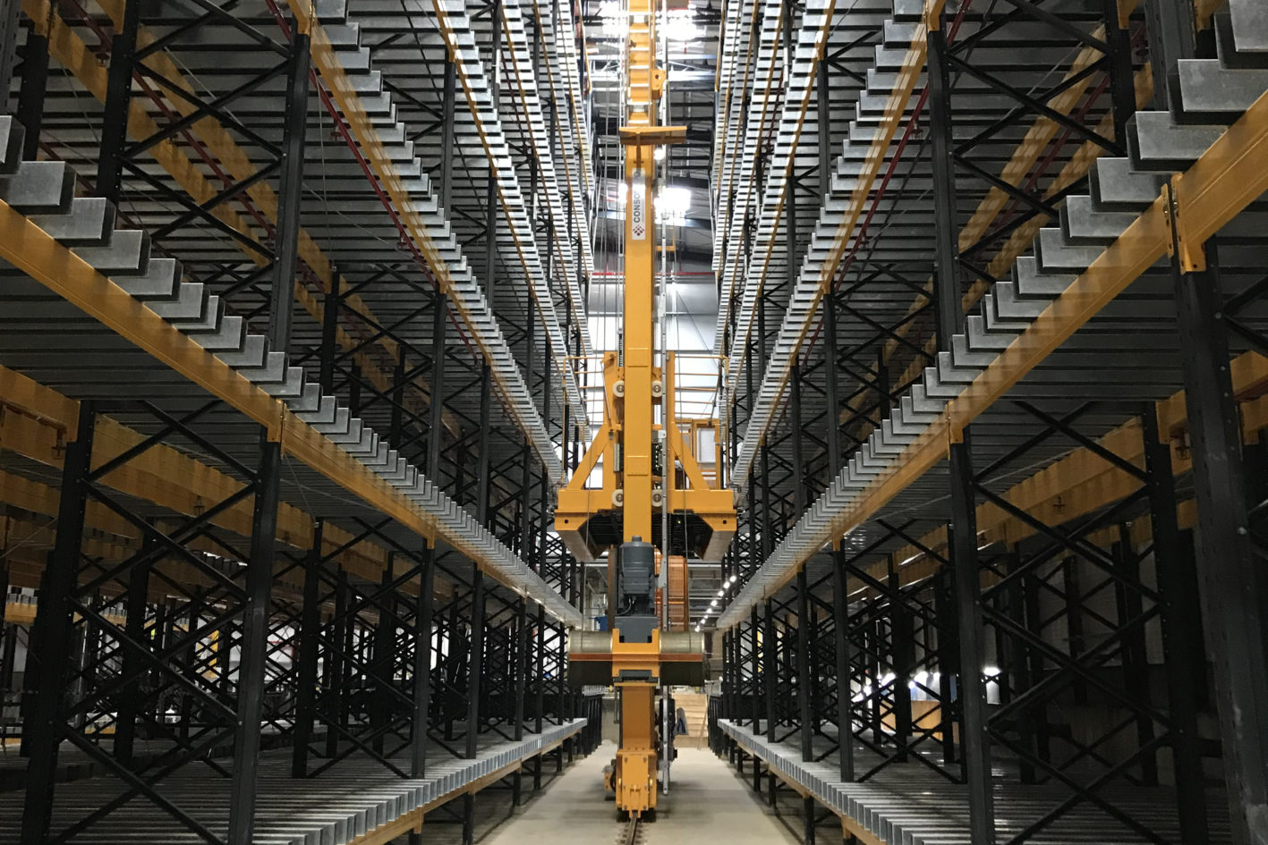 Engineered solutions for corrugated cardboard manufacturing, production and converting machinery, glue kitchen and work in progress vertical storage.